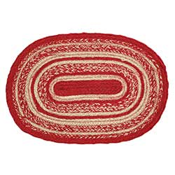 Cunningham Red Braided Placemats (Set of 6)