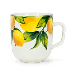Lemon Tree Bone China Mugs (Set of 6)