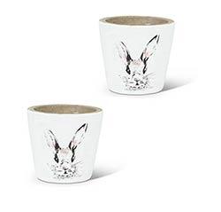 Bunny Head Planters - Extra Small (Set of 2)