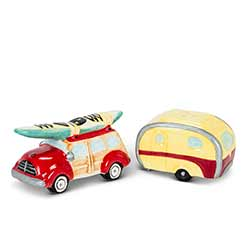 Retro Car & Camper Salt & Pepper Shakers