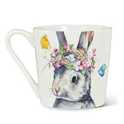 Rabbit with Nest Bone China Mug