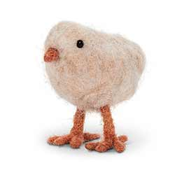Felt Chick Figurine