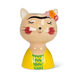 Cat with Eyebrows Medium Vase