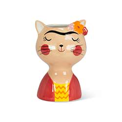 Cat with Eyebrows Small Vase