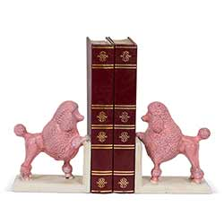 Pink Poodle Book Ends (Pair of 2)