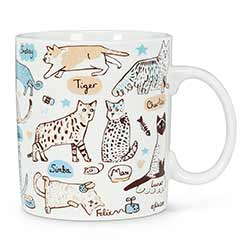 Cats & Names Mugs (Set of 4)