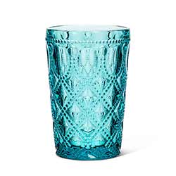 Turquoise Jewel Glass Highball Tumblers (Set of 6)