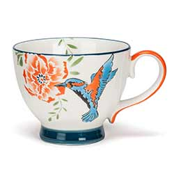 Chintz Hummingbird Mugs (Set of 4)