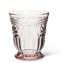 Pink Flower Glass Tumblers (Set of 4)