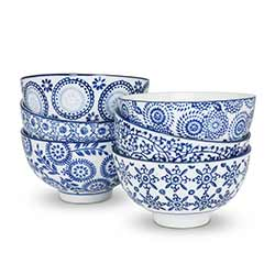 Indigo Rice Bowls (Set of 6)