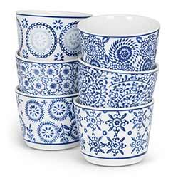 Indigo Tea Cups or Dip Bowls (Set of 6)
