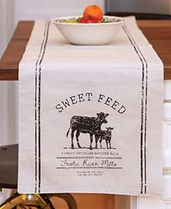 Sweet Feed Cow 36 inch Table Runner