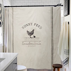 Sunny Feed Chicken Shower Curtain