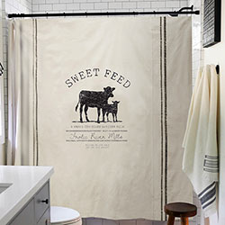 Sweet Feed Cow Shower Curtain