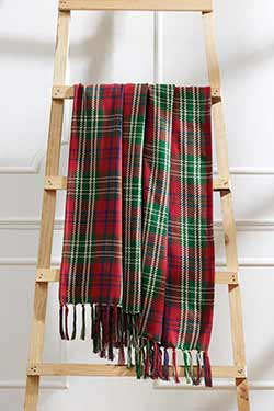 Connor Plaid Woven Throw Blanket
