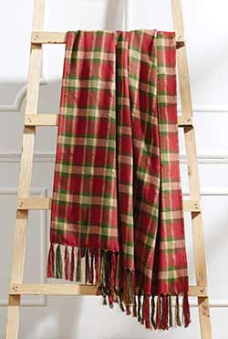 Claren Christmas Plaid Woven Throw Blanket
