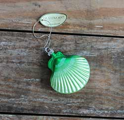 Green Seashell Ornament