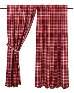 Braxton Red Plaid 84 inch Panels