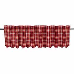 Braxton Red Plaid Valance (72 inch)