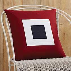 Patriotic Block Applique Pillow