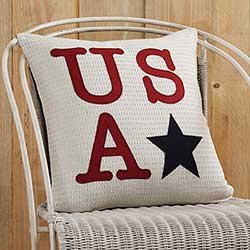 USA Applique Pillow