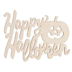Happy Halloween Unfinished Wood Cutout