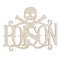 Poison Unfinished Wood Cutout