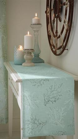 Seychelles Aqua Table Runner