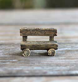 Log Fairy Garden Bench