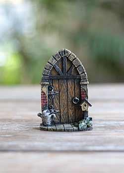 Fairy Garden Door with Watering Can