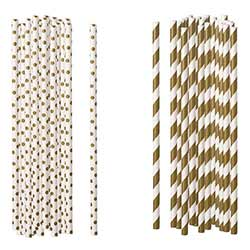 Gold Paper Straws (Set of 100)