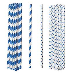 Blue Paper Straws (Set of 100)