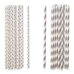 Silver Paper Straws (Set of 100)