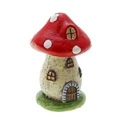 Mushroom House Figurine