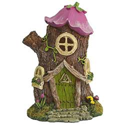 Light-Up Fairy House Figurine