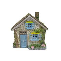 Stone Cottage House Figurine