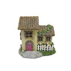 Cottage Figurine with Pink Door