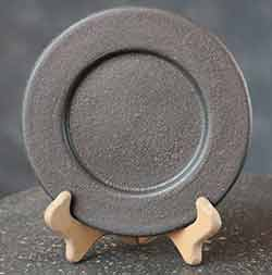 Plain Primitive Plate - Black (6 inch)