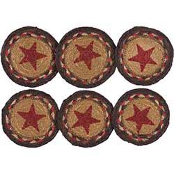 Landon Star Braided Coasters (Set of 6)