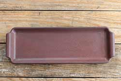 Rectangle Dish with Handles - Burgundy
