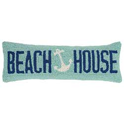 Beach House Anchor Hooked Pillow