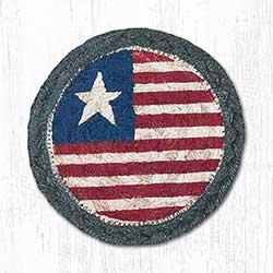 Patriotic Flag Braided Coaster