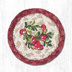 Cranberries Braided Coaster