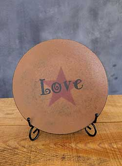 Love Primitive Plate with Star