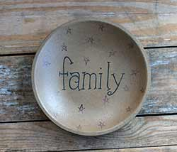 Family Shallow Bowl with Stars