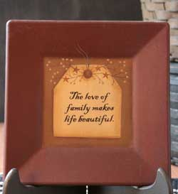 Love of Family Tag Plate