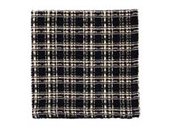 Cambridge Black Plaid Waffle Weave Dish Cloth