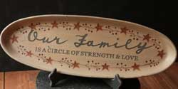 Carved Family Oval Tray