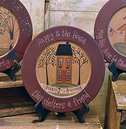 Happy is the House Plate