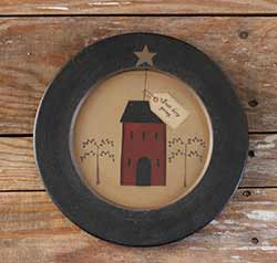 Just Keep Going Saltbox House Plate